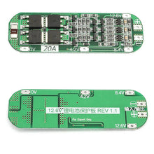 Load image into Gallery viewer, 3S 20A Li-ion Lithium Battery 18650 Charger PCB BMS Protection Board For Drill Motor 12.6V Lipo Cell Module 64x20x3.4mm