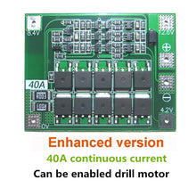 Load image into Gallery viewer, 3S 40A Li-ion Lithium Battery Charger Protection Board PCB BMS For Drill Motor 11.1V 12.6V Lipo Cell Module with Balance