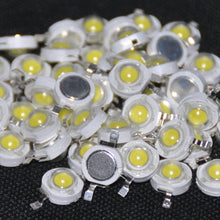 Load image into Gallery viewer, 50pcs 1W LED Diode 1 Watt High Power Chips LED Diod White Light-Emitting-Diodes 1-Watt White 110-120 lm LED Beads LED 1-W White