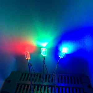 50pcs Rectangular LEDs 255 Diod RGB LED Diffused Cathode / Anode Square 2*5*5mm Red Green Blue Light Emitting Diodes DIY Diodo