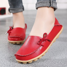 Load image into Gallery viewer, Leather Women's Shoes Fashion Peas Shoes Large Size Casual Women's Shoes Pregnant Women and Nurse Shoes