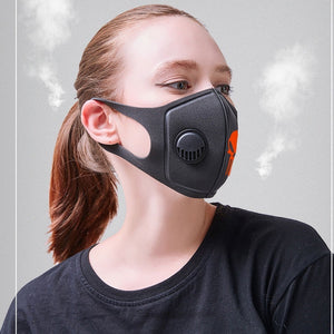 Respiratory Dust Mask Upgraded Version Men & Women Anti-fog Haze Dust Pm2.5 Pollen 3D Cropped Breathable Valve Skull Mouth Mask