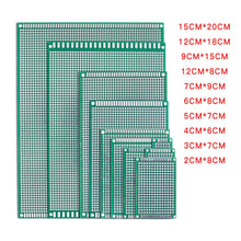 Load image into Gallery viewer, 5pcs/lot 5x7 4x6 3x7 2x8 6x8 7x9 Double Side Copper Prototype PCB Universal Board Experimental Development Plate For Arduino