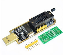 Load image into Gallery viewer, CH341A 24 25 Series EEPROM Flash BIOS USB Programmer Module + SOIC8 SOP8 Test Clip For EEPROM 93CXX / 25CXX / 24CXX