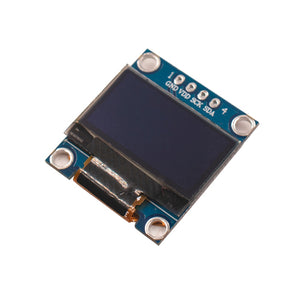 0.96 inch I2C IIC Serial Blue White OLED Display Module 128X64 SSD1306 12864 LCD Screen Board GND VCC SCL SDA for Arduino