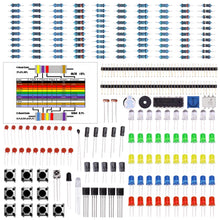 Load image into Gallery viewer, Electronics Component Basic Starter Kit w/ Precision Potentiometer, buzzer, capacitor compatible for Arduino