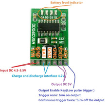 Load image into Gallery viewer, DC 5V 2.1A Mobile Power Diy Board 4.2V Charge/Discharge(boost)/battery protection/indicator module 3.7V lithium 18650 LI-ION