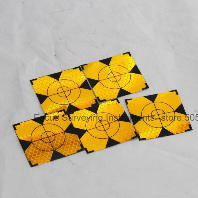 NEW 300pcs Yellow Reflector Sheet  Reflective Target for Total Station