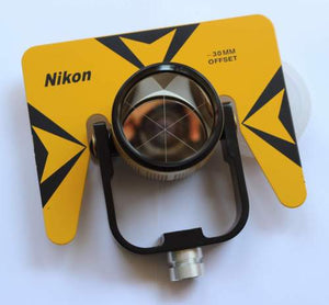 NEW YELLOW SINGLE PRISM PRISMS FOR NIKON TOTAL STATION STATIONS