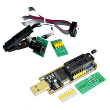 Load image into Gallery viewer, SOIC8 SOP8 Test Clip For EEPROM 93CXX / 25CXX / 24CXX + CH341A 24 25 Series EEPROM Flash BIOS USB Programmer Module