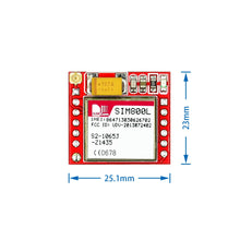 Load image into Gallery viewer, Smallest SIM800L GPRS GSM Module MicroSIM Card Core BOard Quad-band TTL Serial Port