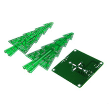 Load image into Gallery viewer, Three-Dimensional 3D Christmas Tree LED DIY Kit Red/Green/Yellow RGB LED Flash Circuit Kit Electronic Fun Suite