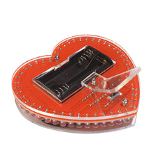 Load image into Gallery viewer, colorful LED heart DIY making kit soldering learn kit Creative gifts led diy electronic kit AA battery power supply