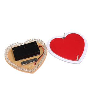 colorful LED heart DIY making kit soldering learn kit Creative gifts led diy electronic kit AA battery power supply