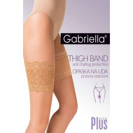 Gabriella Lace Thigh Band 509 Nero 3/4