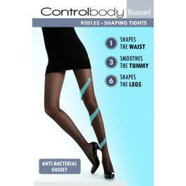 (D) Control Body Diamond 920152 Tights Nero Size 1/2 - S/M - M/L - L/XL