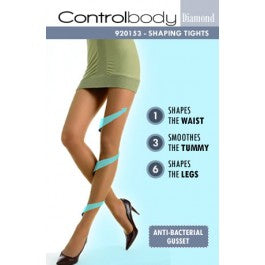 Control Body Diamond 920153 Tights Antilope Size 4-Large