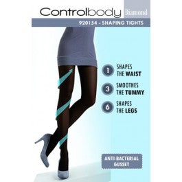 Control Body Diamond 920154 Tights Nero Size 3-Medium