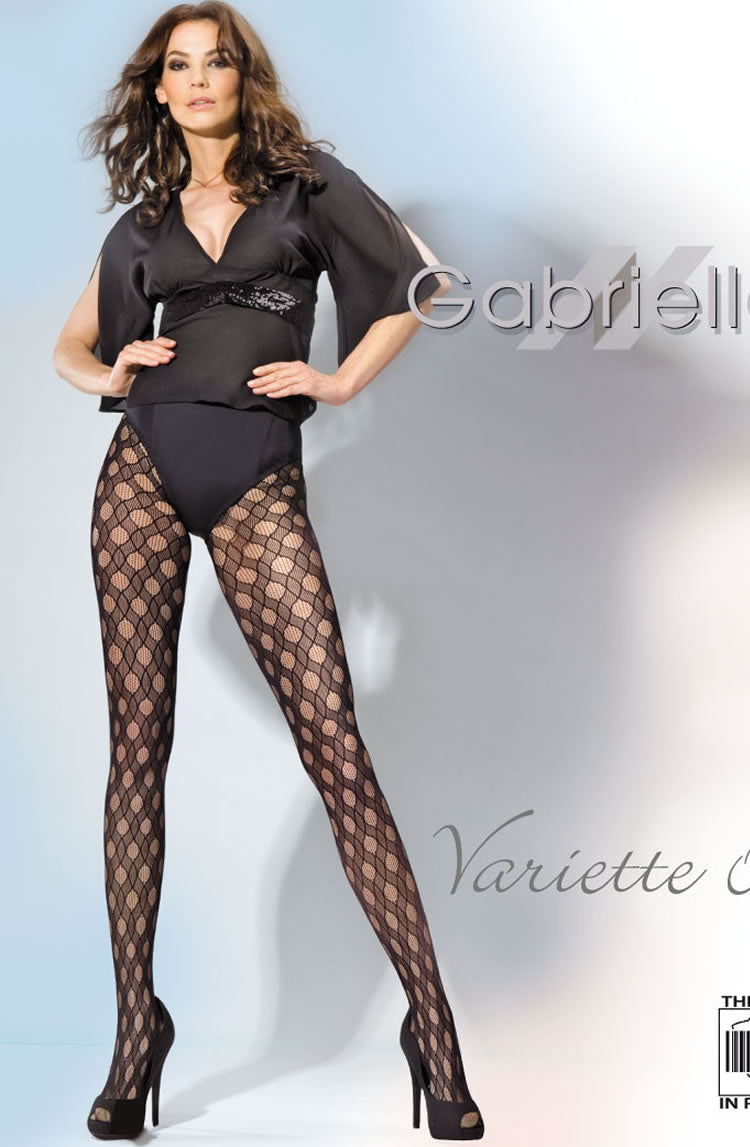 Gabriella Kabaretta Collant Varietta 09-243 Tights Nero