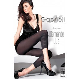 Gabriella Diamante Due Leggings Nero (Black)3/4 (M
