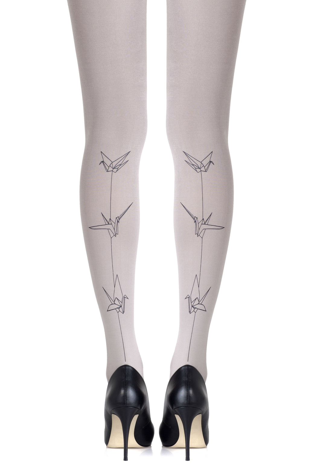 "Zohara ""Paper Planes"" Light Grey Tights"