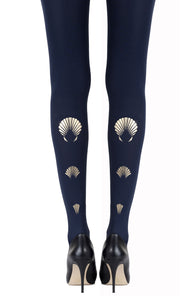 "Zohara ""What The Shell"" Gold Print Tights"