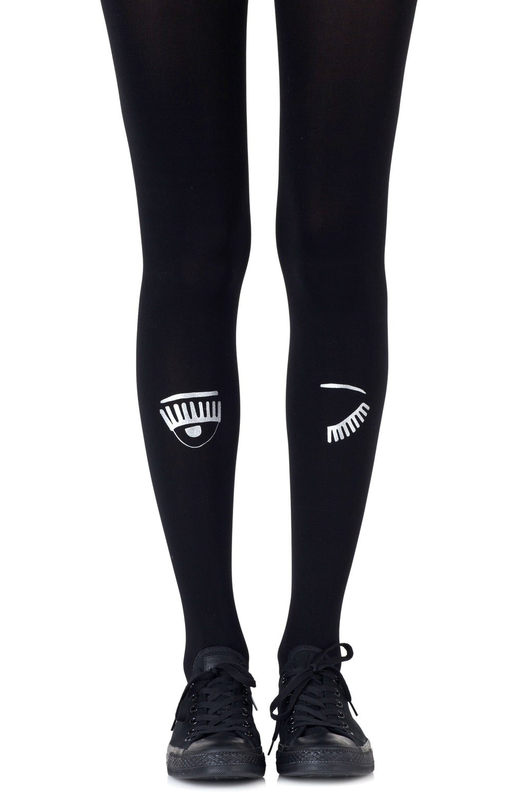"Zohara ""Wink Wink"" Black Tights"