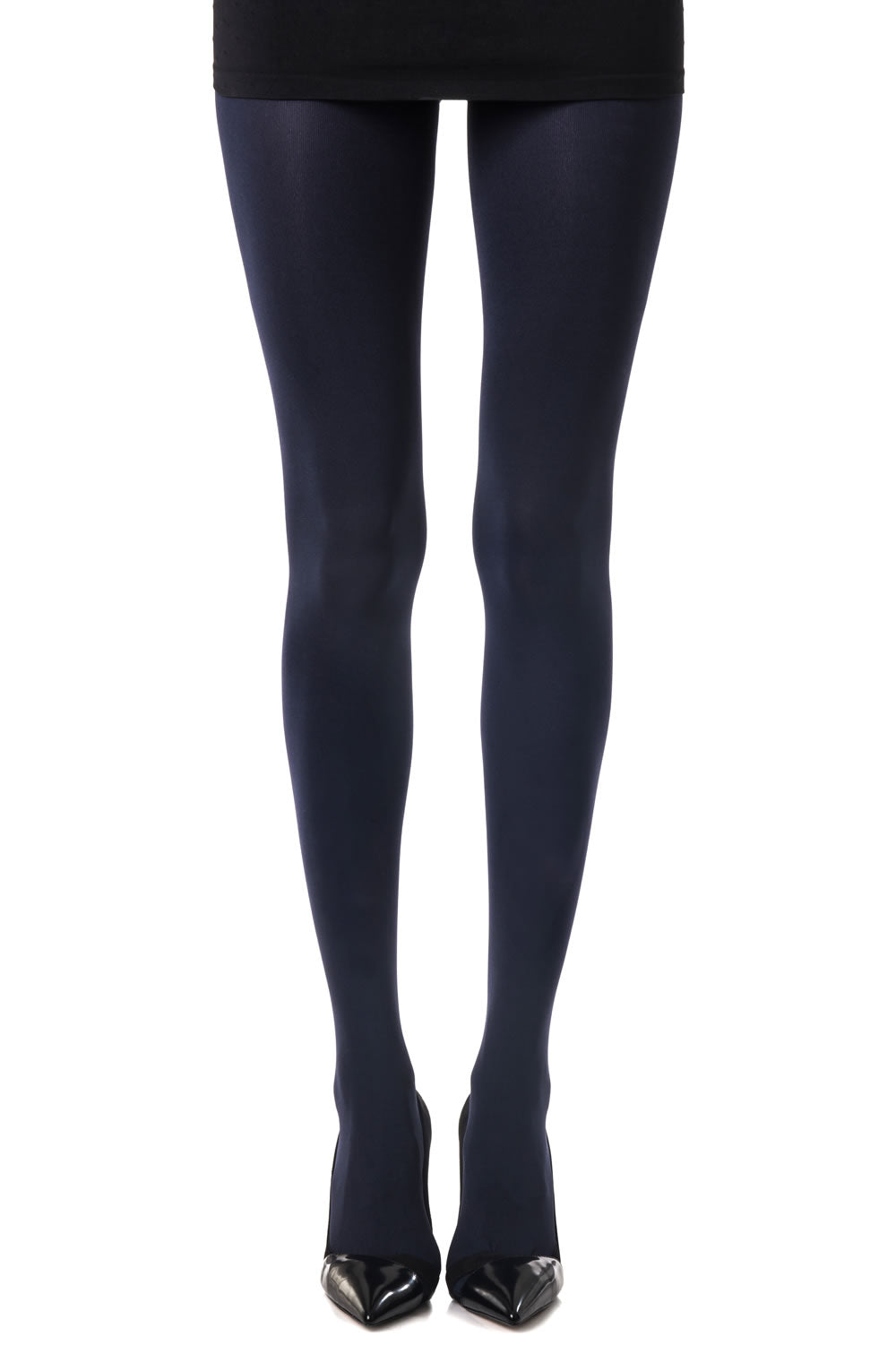 Zohara Navy Blue Opaque Tights