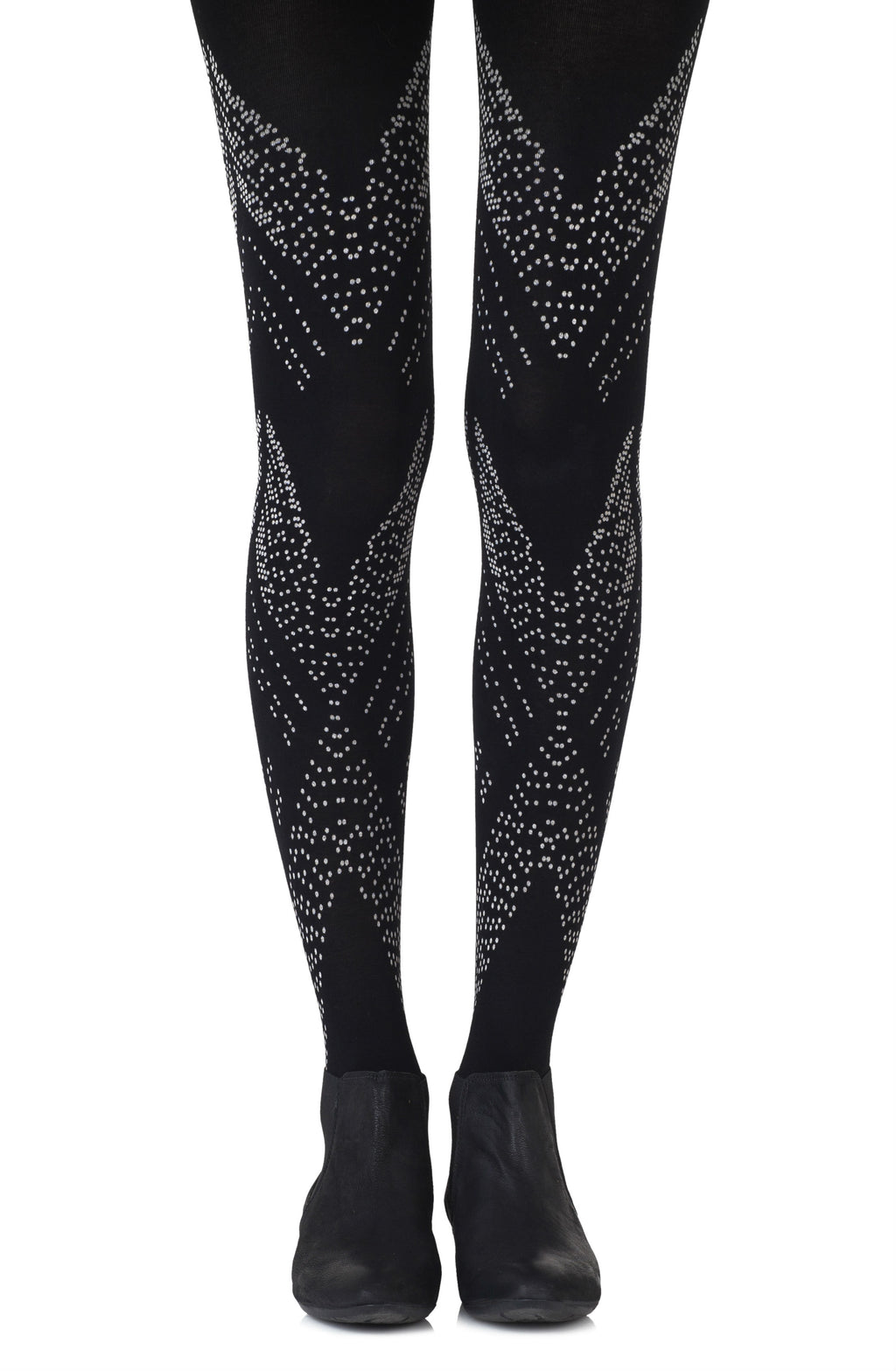 "Zohara ""You're My Darling Angle"" Black Tights"