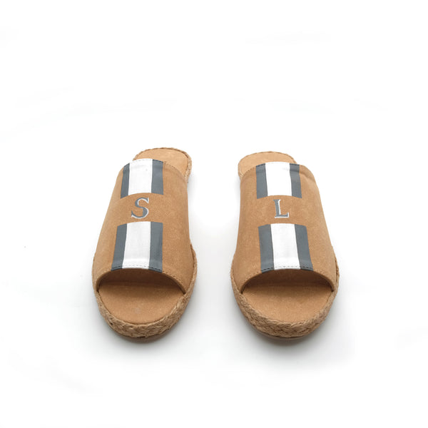 Summer (Adult) - Tan with Gray/White Stripe