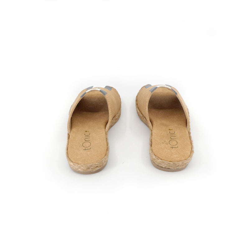 Summer (Toddler) - Tan with Gray/White Stripe