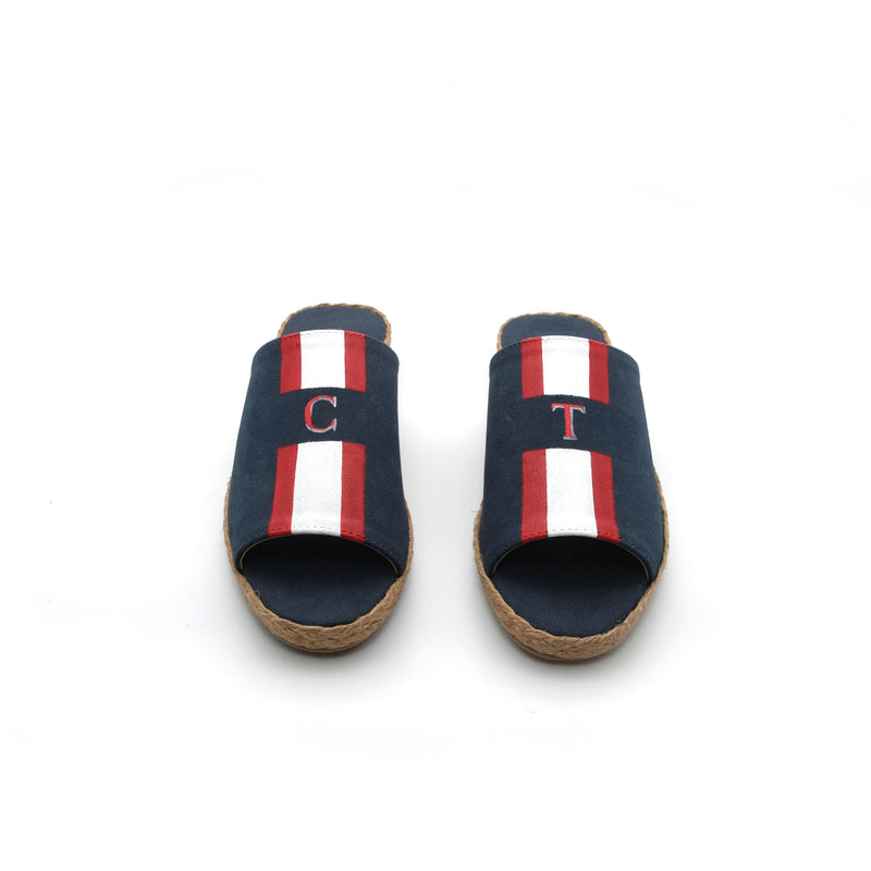 Summer (Toddler) - Navy Blue with Red/White Stripe