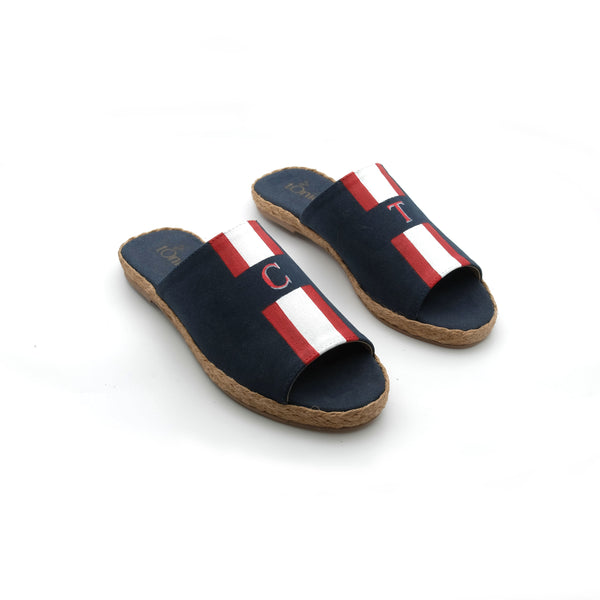 Summer (Adult) - Navy Blue with Red/White Stripe