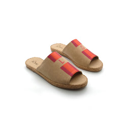 Summer (Adult) - Beige with Pink/Orange Stripe