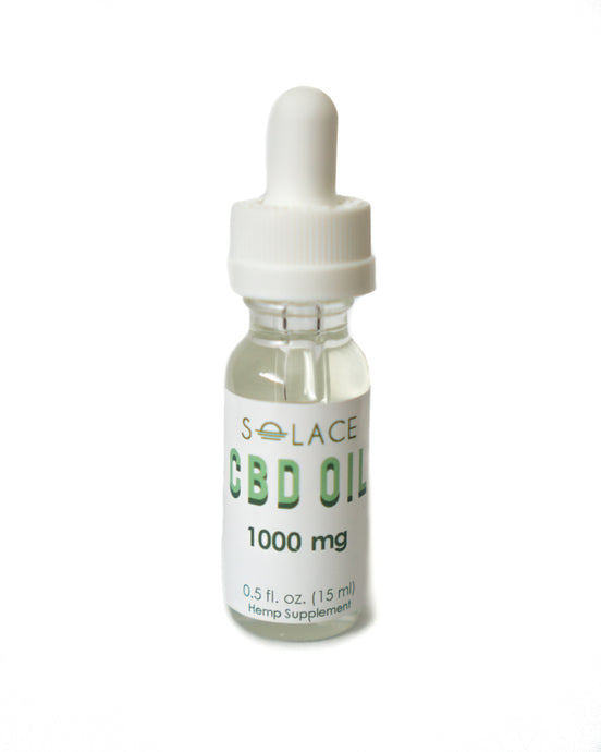 1000mg Pure CBD Oil (THC Free) Tincture 15ml