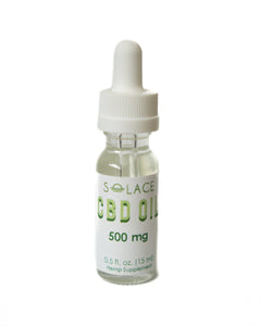 500mg Pure CBD Oil (THC Free) Tincture 15ml