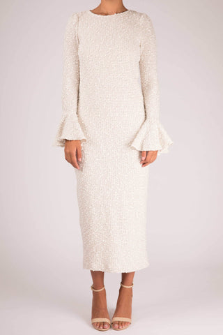 Shona Joy Aimee Frill Cuff Midi Dress