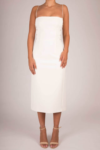 Dion Lee Ivory Laced Bustier Dress