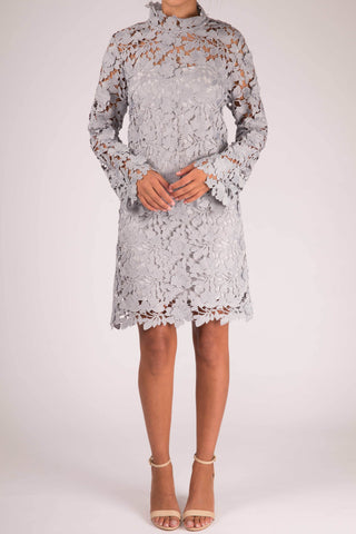 Keepsake The Label Acoustic Tunic Long Sleeve Lace Dress
