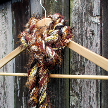 Load image into Gallery viewer, Braided Lariat Scarf - Brun