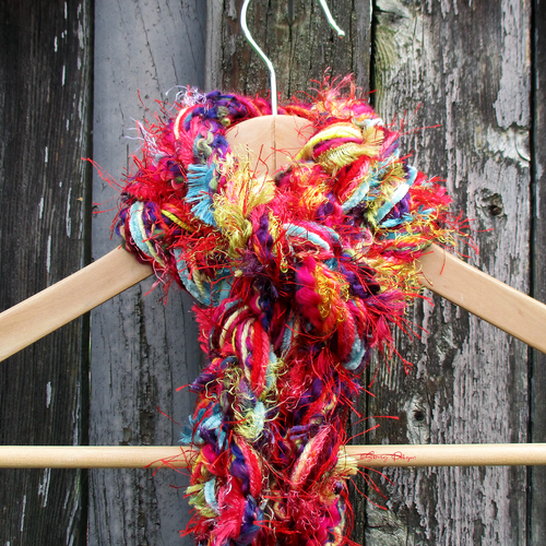 Braided Lariat Scarf - Carnival