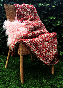 Inlet Throw - Cranberry cream