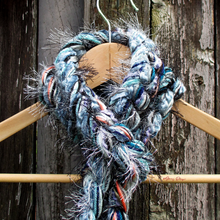 Load image into Gallery viewer, Braided Lariat Scarf - South Pole Sunrise