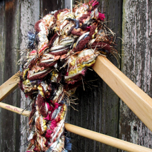 Load image into Gallery viewer, Braided Lariat Scarf - Mahogany