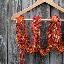 Load image into Gallery viewer, Braided Lariat Scarf - Pumpkin