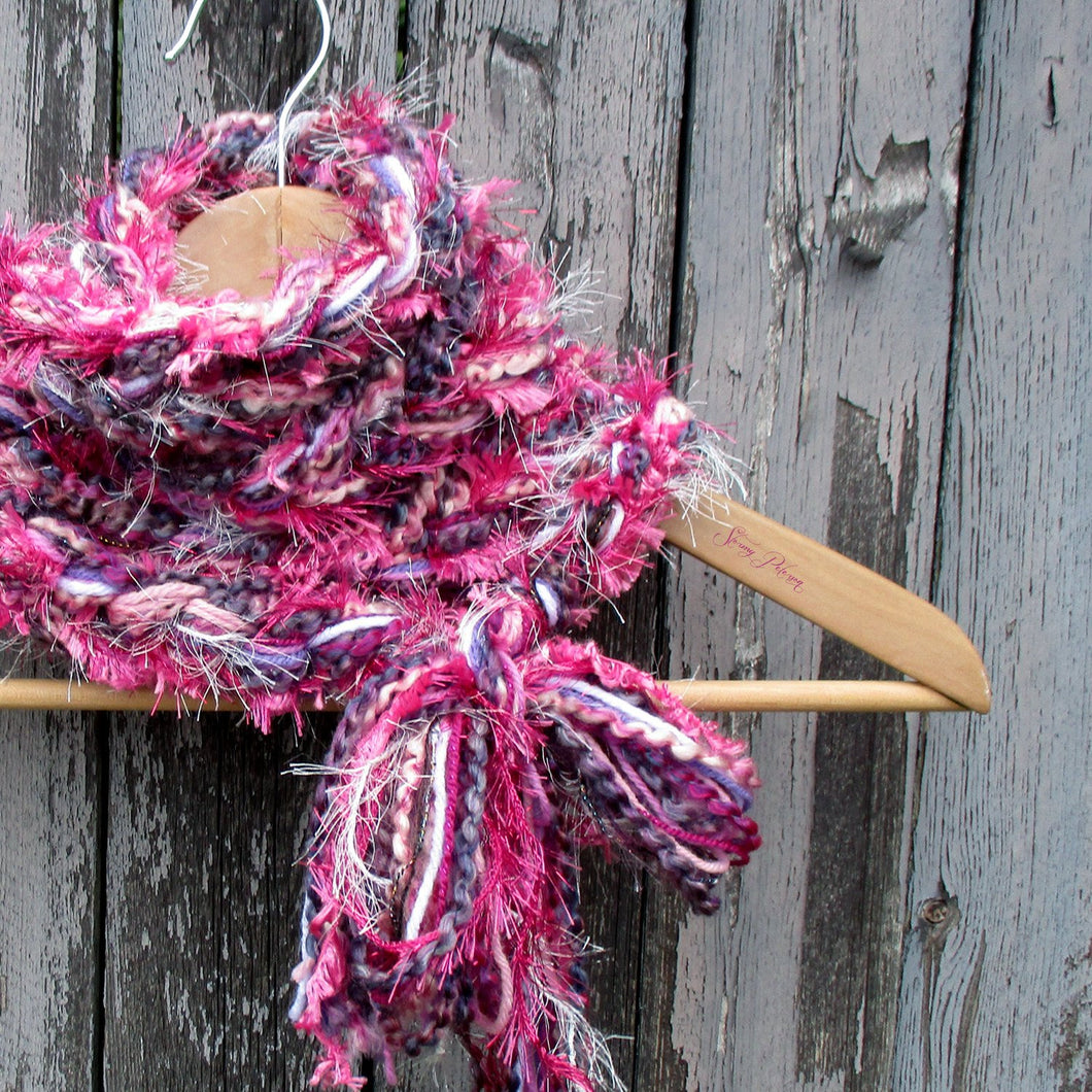 Braided Lariat Scarf - Sweetheart