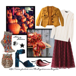Braided Lariat Scarf - Pumpkin