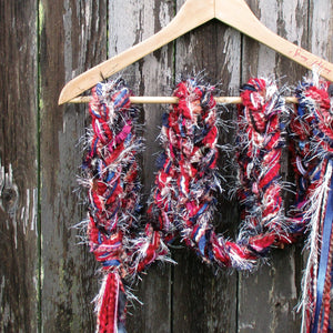 Braided Lariat Scarf - Autumn Rain