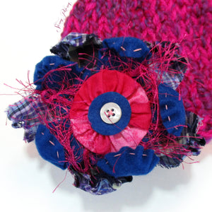 Photo Prop Newborn Hats - Electric Raspberry