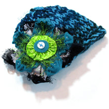 Load image into Gallery viewer, Photo Prop Newborn Hats - Turquoise Noise